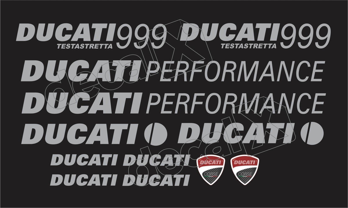 Kit Adesivos Ducati 999 Desmoquattro Performance Dct99901