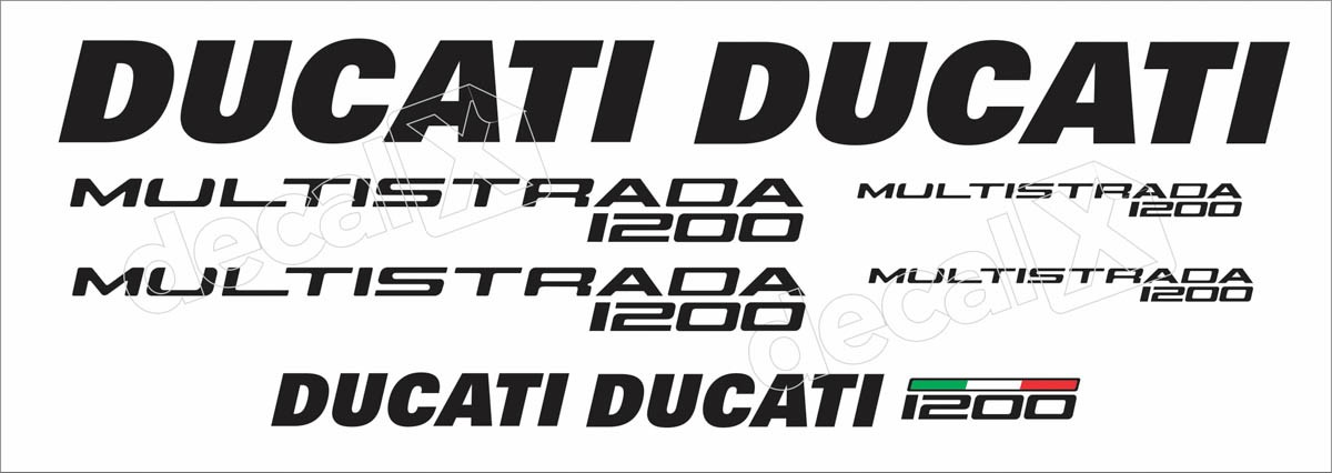 Kit Adesivos Ducati Multistrada 1200 Dctmu12002