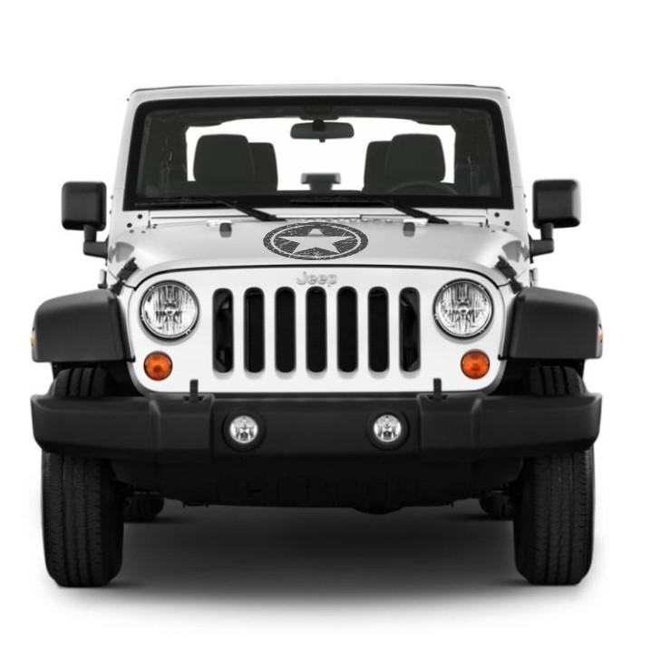 Kit Adesivos Estrela Militar Jeep Willys Cherokee ad2