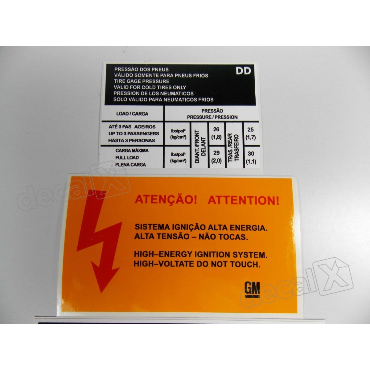 Kit Adesivos Etiquetas Motor Chevrolet Vectra Até 1996