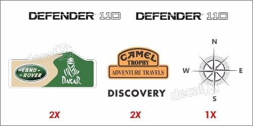 Kit Adesivos Faixas Land Rover Defender 110 Dfndr17