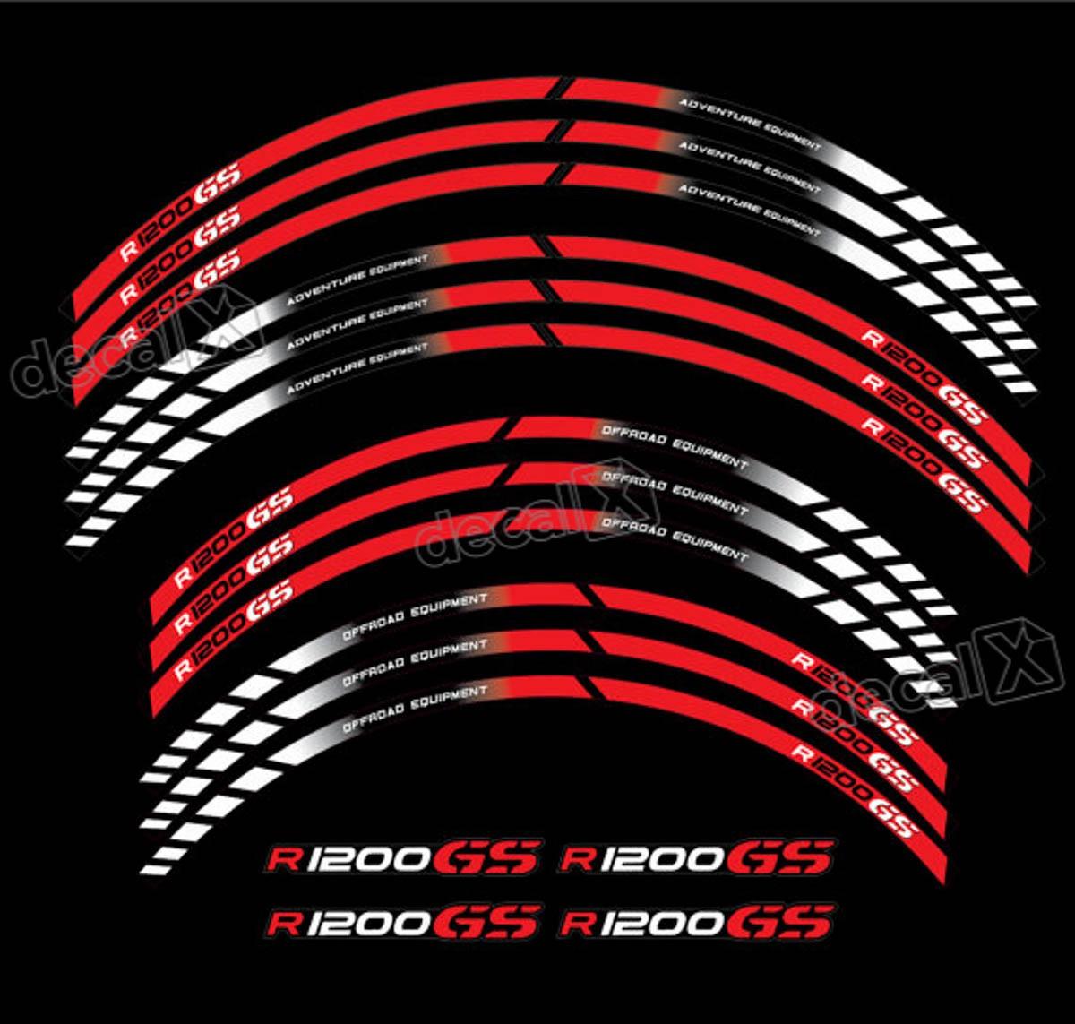 Kit Adesivos Friso Refletivo Roda Moto Bmw R1200gs Fri020