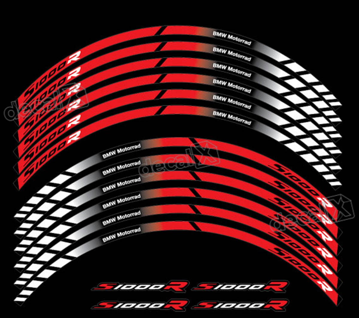 Kit Adesivos Friso Refletivo Roda Moto Bmw S1000r Fri032
