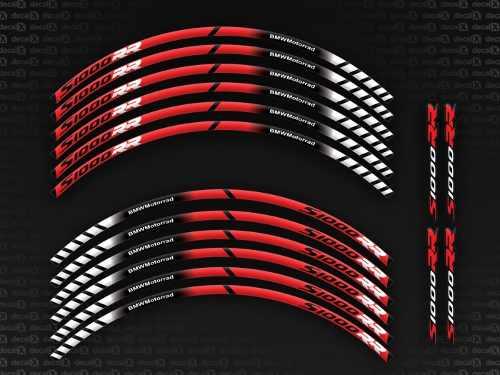 Kit Adesivos Friso Refletivo Roda Moto Bmw S1000rr Fri027