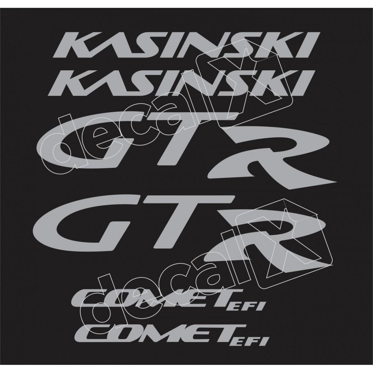 Kit Adesivos Kasinski Comet 250 Gtr Em Prata 01