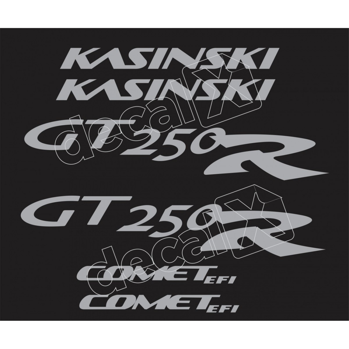 Kit Adesivos Kasinski Comet Gt 250r Em Prata 03