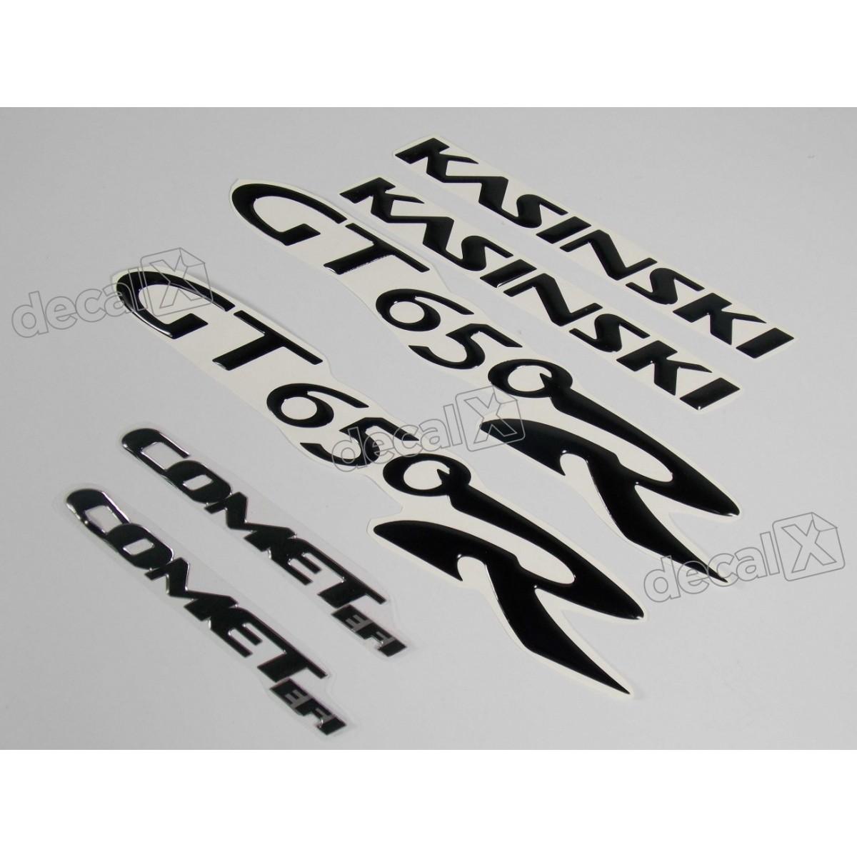 Kit Adesivos Kasinski Comet Gt 250r Em Preto 04