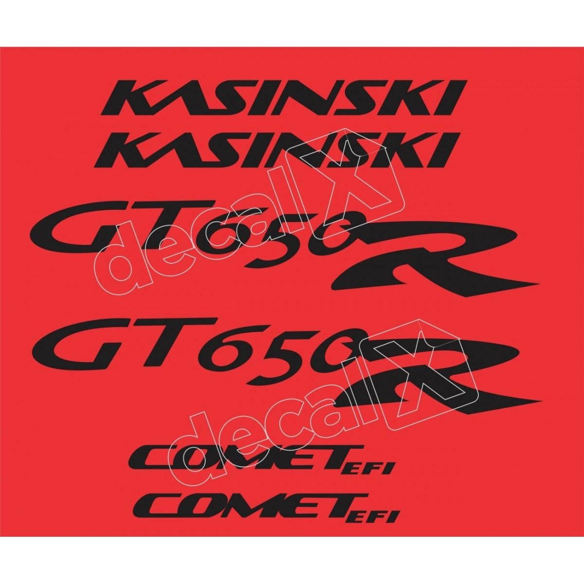 Kit Adesivos Kasinski Comet Gt 650r Em Preto Decalx