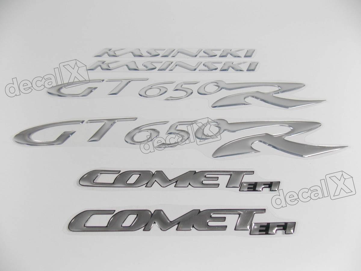 Kit Adesivos Kasinski Comet Gt 650r Resinado Cromado Decalx