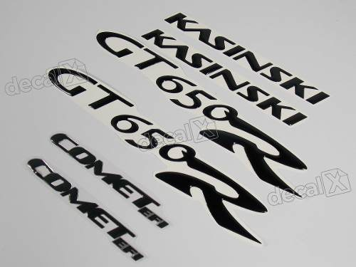 Kit Adesivos Kasinski Comet Gt 650r Resinado Preto Rs4