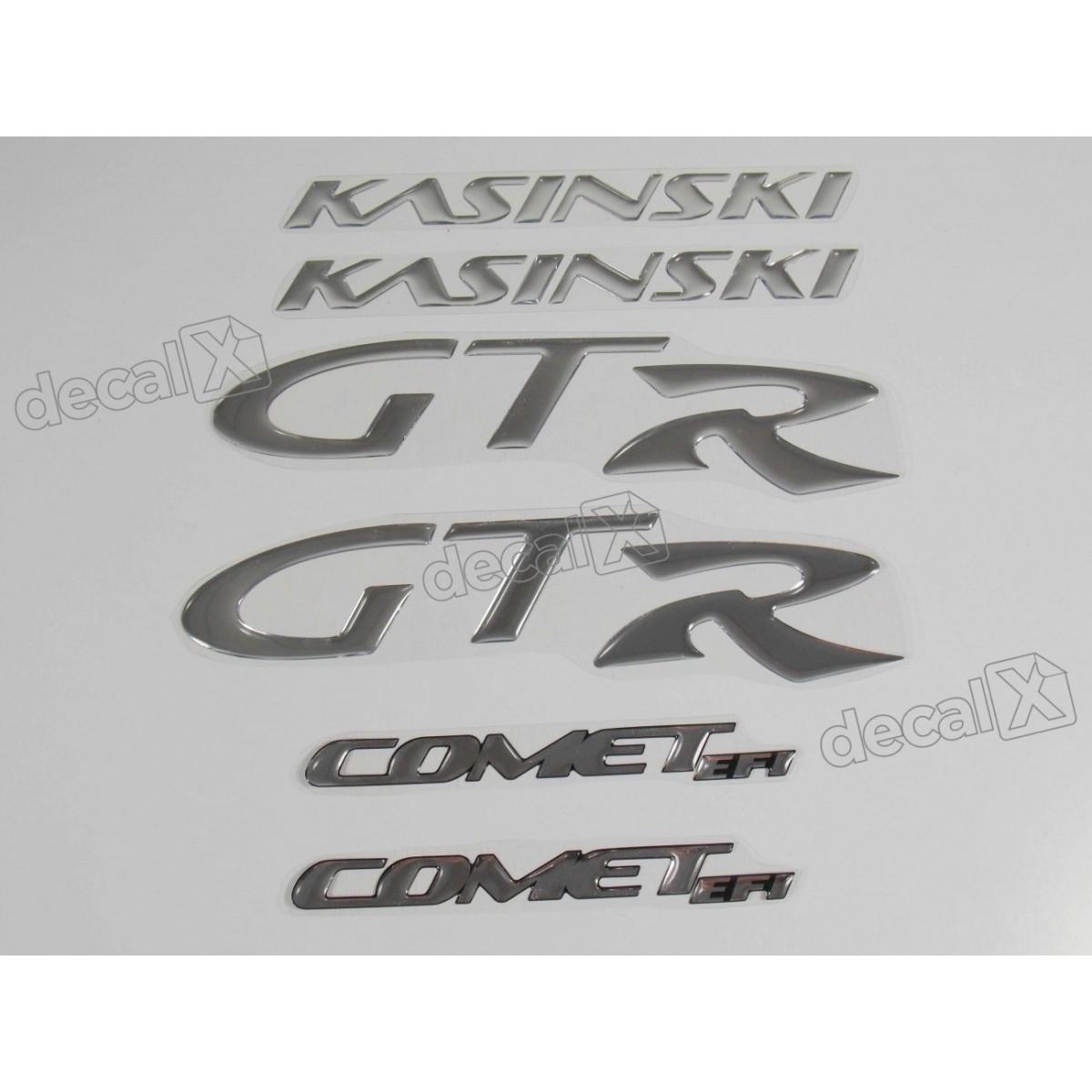 Kit Adesivos Kasinski Comet Gtr Resinado Cromado Rs6 Decalx