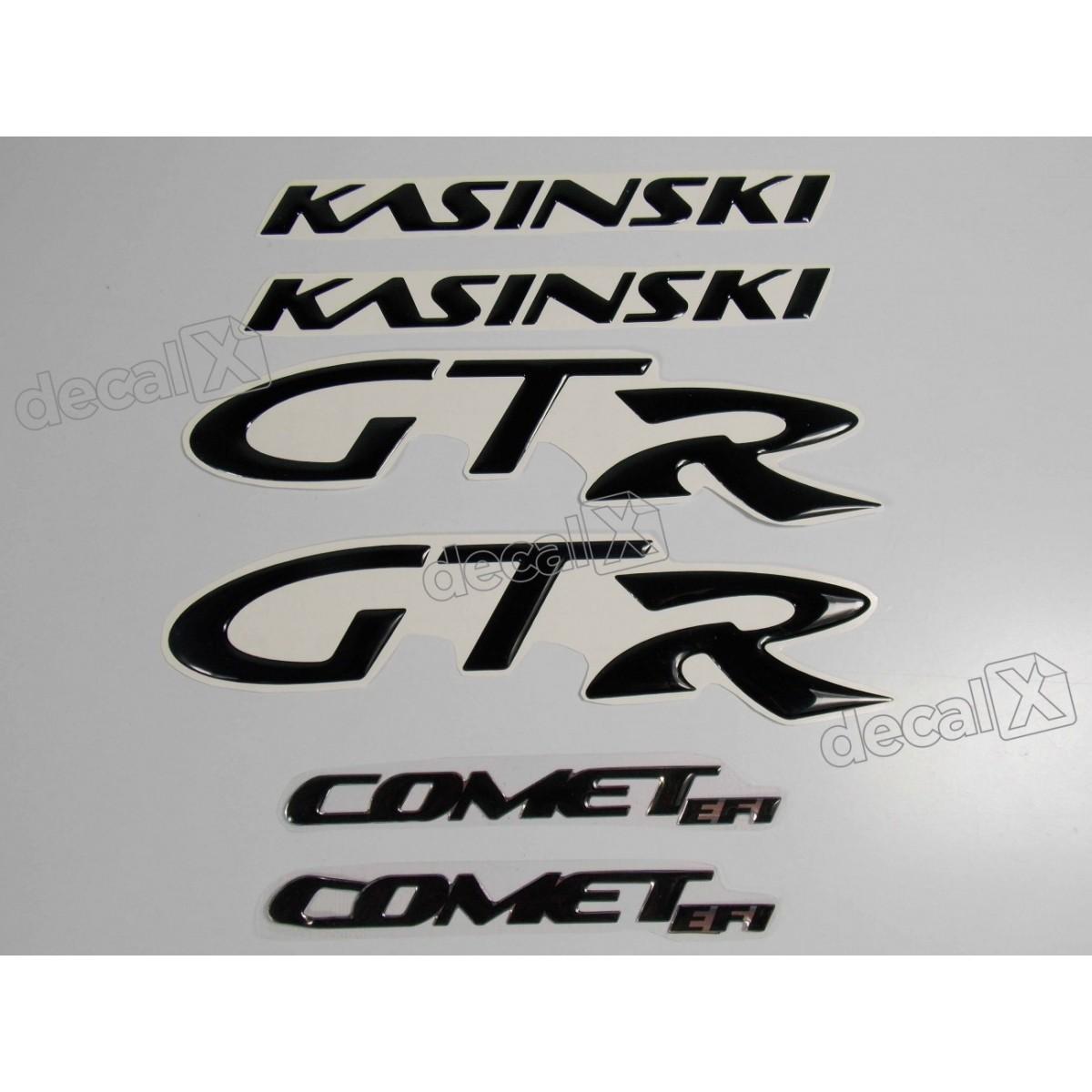 Kit Adesivos Kasinski Comet Gtr Resinado Preto Rs5 Decalx