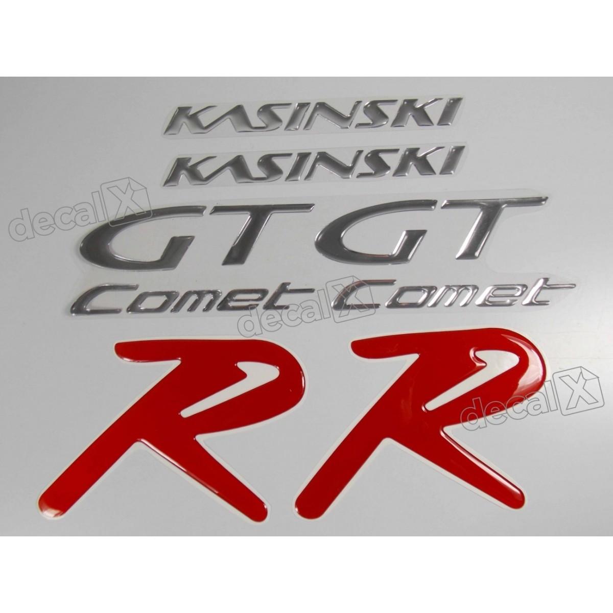 Kit Adesivos Kasinski Comet Gtr Resinado Vermelho Rs7 Decalx