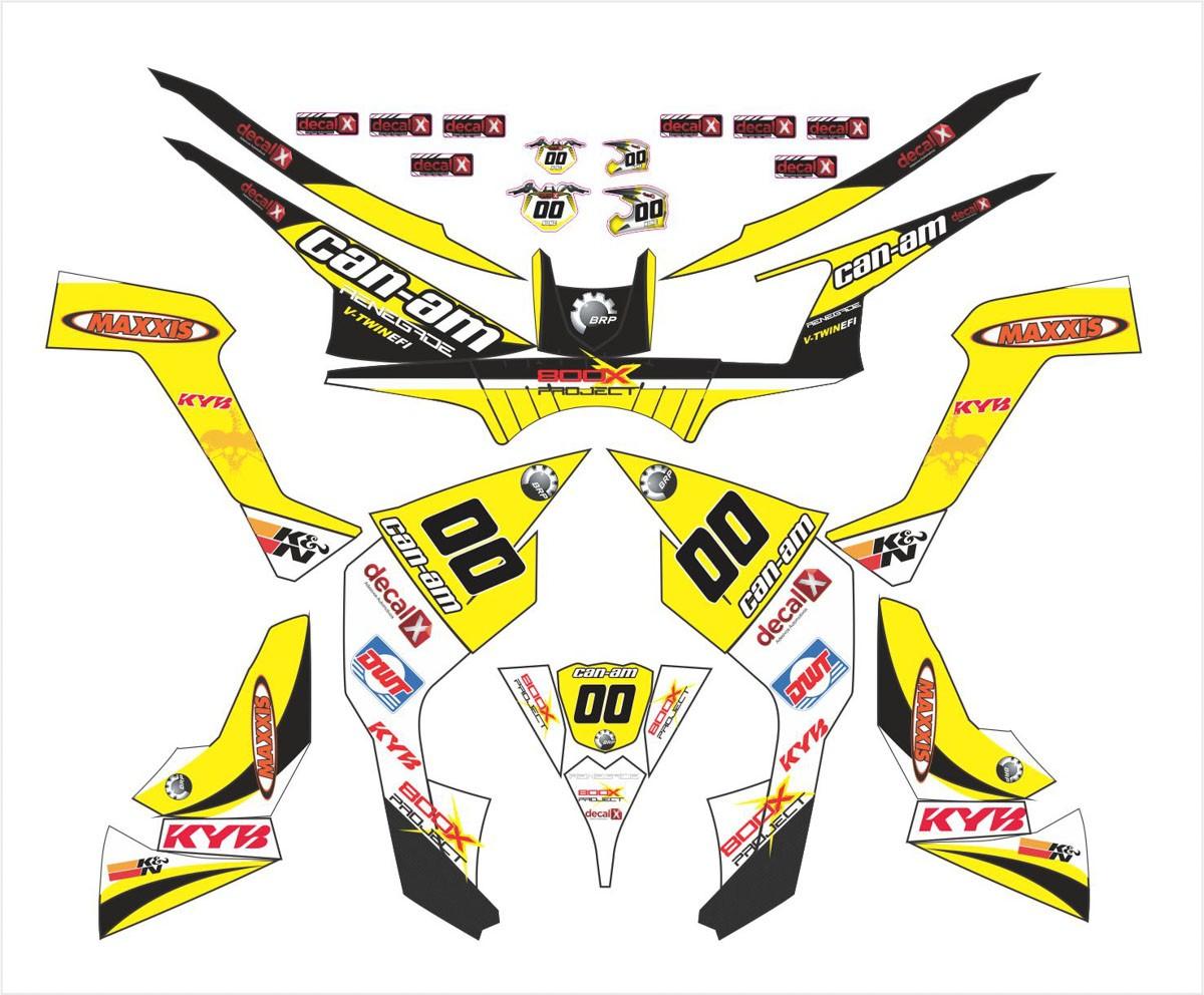 Kit Adesivos Quadriciclo Can Am Renegade 800 0,60mm 3m Cn004
