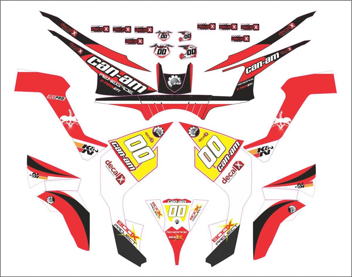 Kit Adesivos Quadriciclo Can Am Renegade 800 0,60mm 3m Cn006