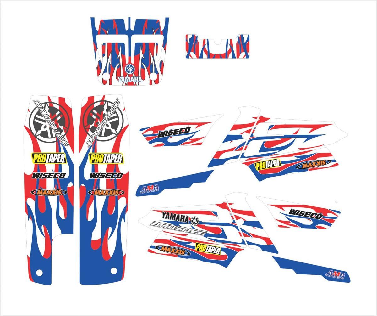 Kit Adesivos Quadriciclo Yamaha Banshee Yh001