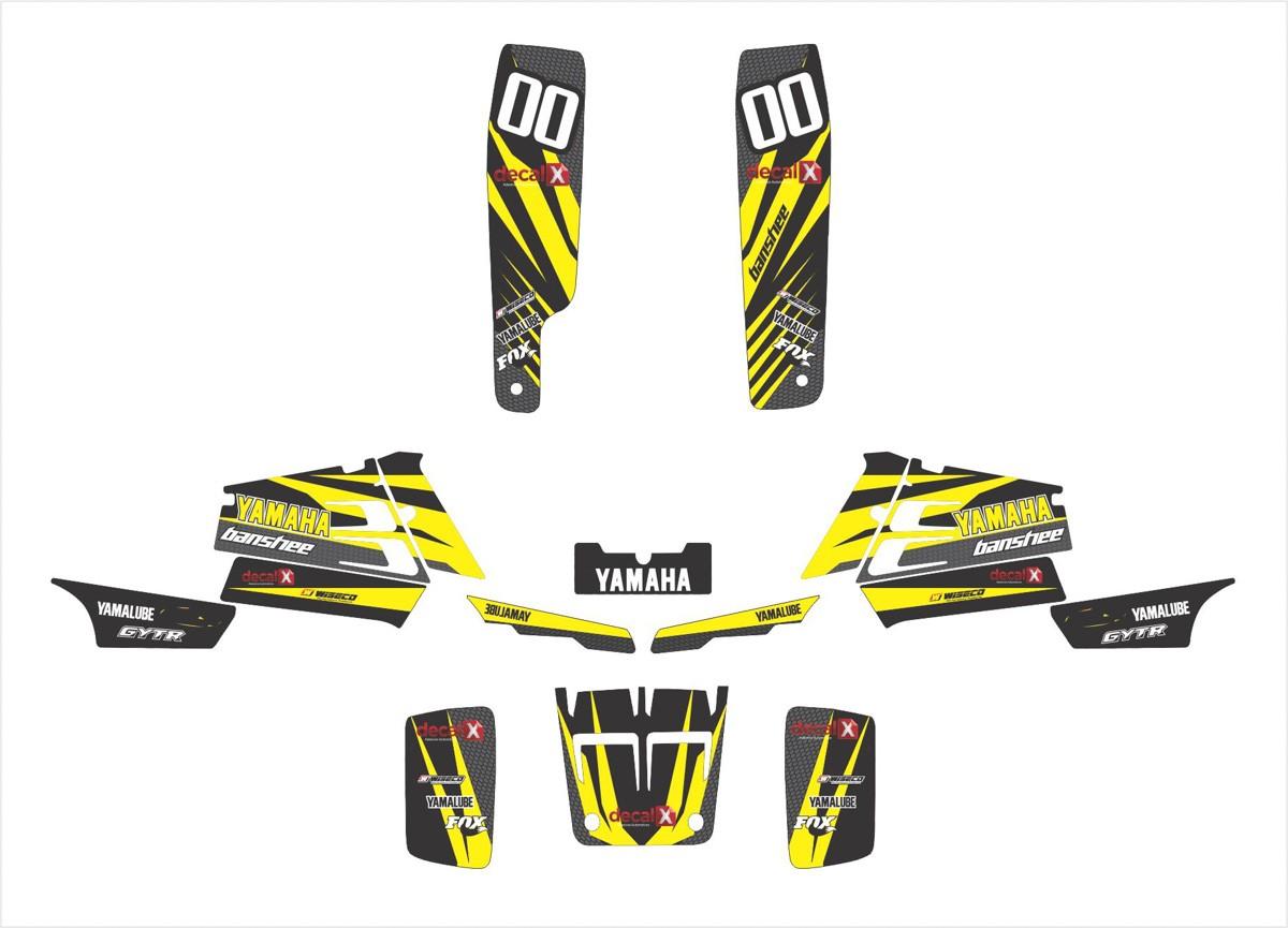 Kit Adesivos Quadriciclo Yamaha Banshee Yh004