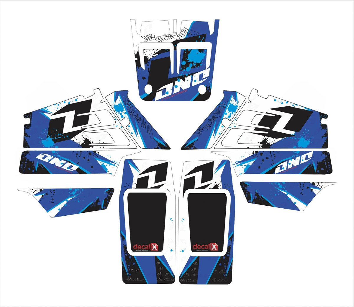 Kit Adesivos Quadriciclo Yamaha Banshee Yh005