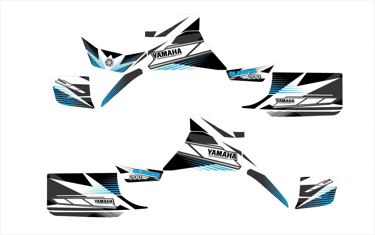 Kit Adesivos Quadriciclo Yamaha Blaster 200 0,60mm 3m Yh007