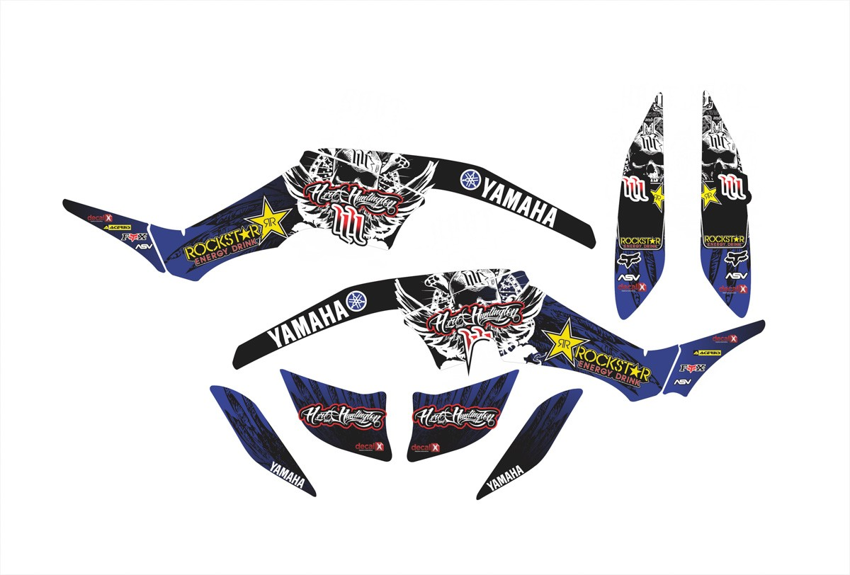 Kit Adesivos Quadriciclo Yamaha Raptor 350 0,60mm 3m Yh020