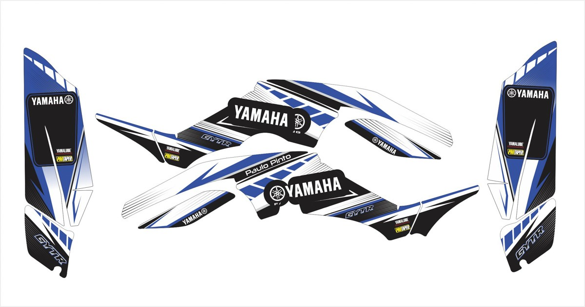 Kit Adesivos Quadriciclo Yamaha Raptor 350 0,60mm 3m Yh029