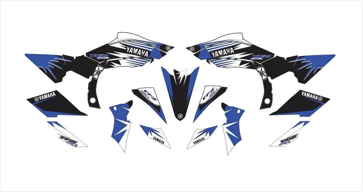 Kit Adesivos Quadriciclo Yamaha Yfz 450r 0,60mm 3m Yh078