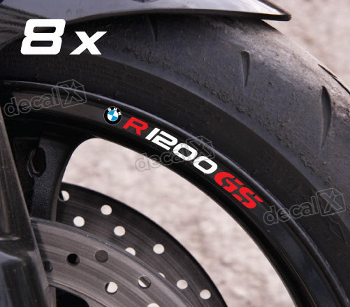 Kit Adesivos Refletivo Roda Moto Bmw R1200gs Fri019