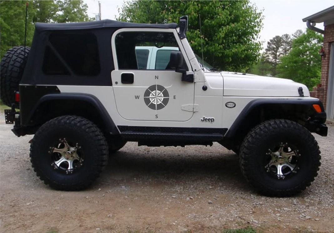 Kit Adesivos Rosa Dos Ventos Jeep Willys Cherokee ad4