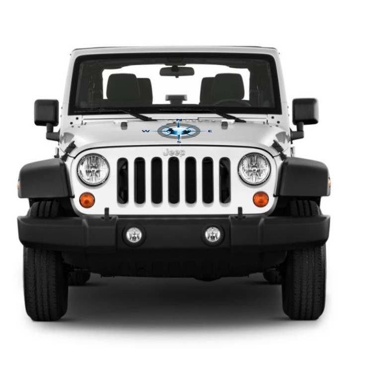 Kit Adesivos Rosa Dos Ventos Jeep Willys Cherokee ad5
