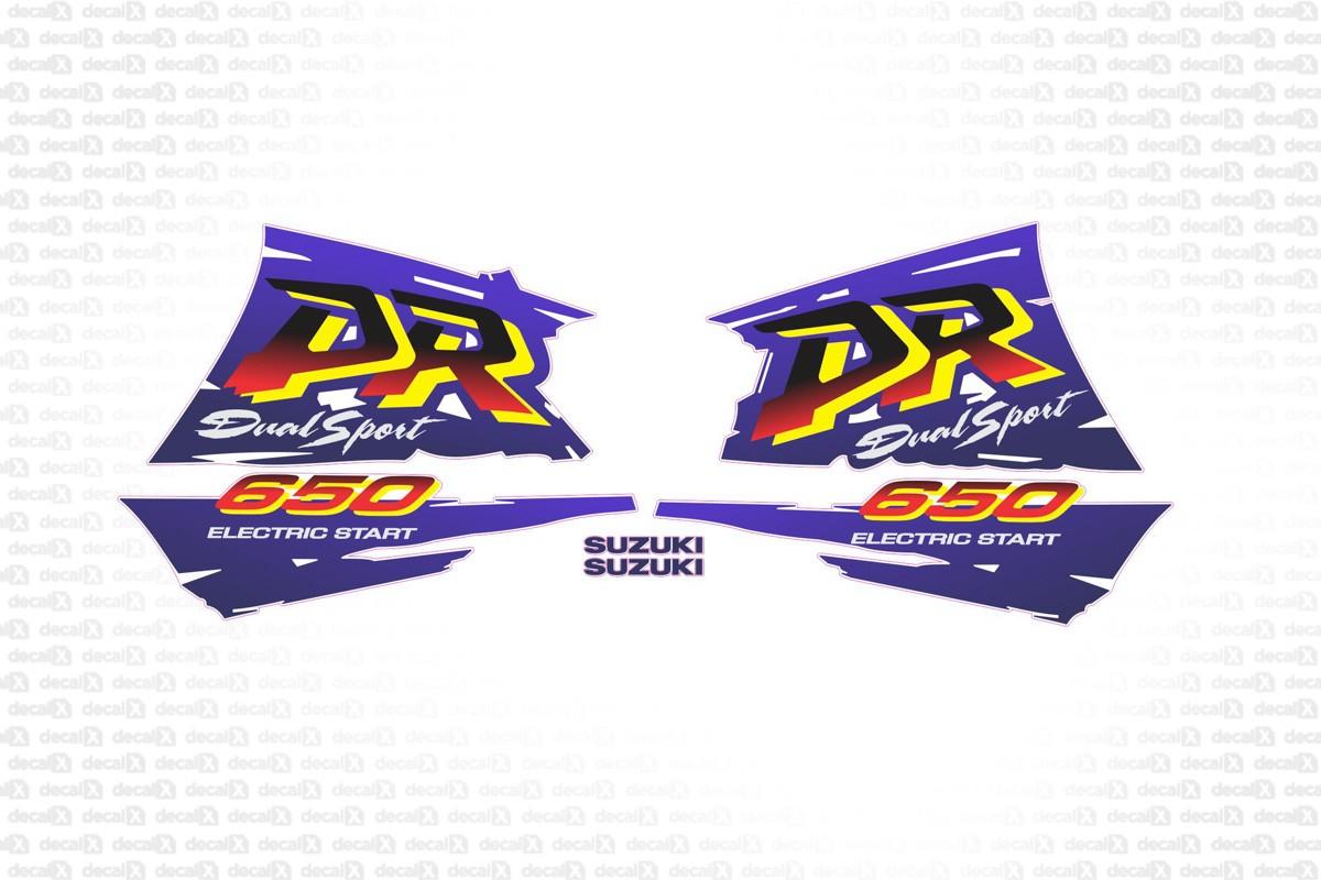 Kit Adesivos Suzuki Dr 650 Dr650 Branca 1997 Dr002