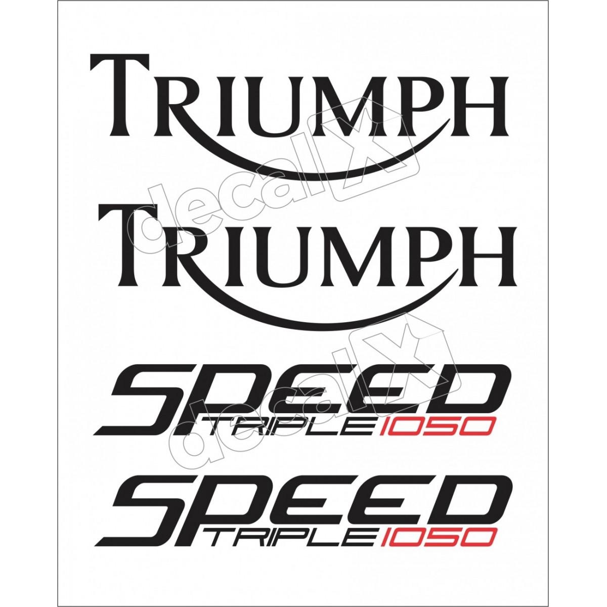 Kit Adesivos Triumph 1050 Speed Triple Branca Decalx
