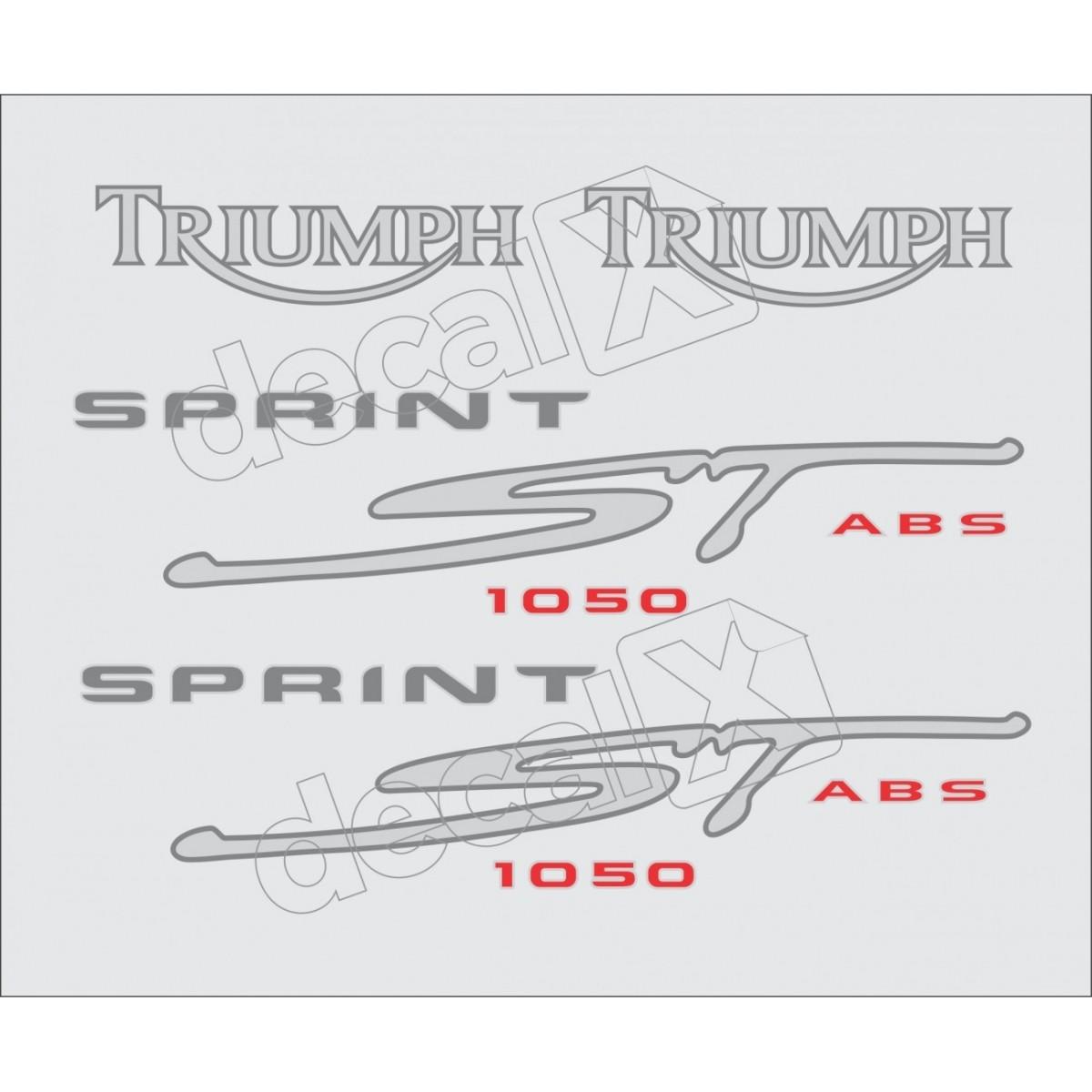 Kit Adesivos Triumph 1050 Sprint St 1050 Prata Decalx