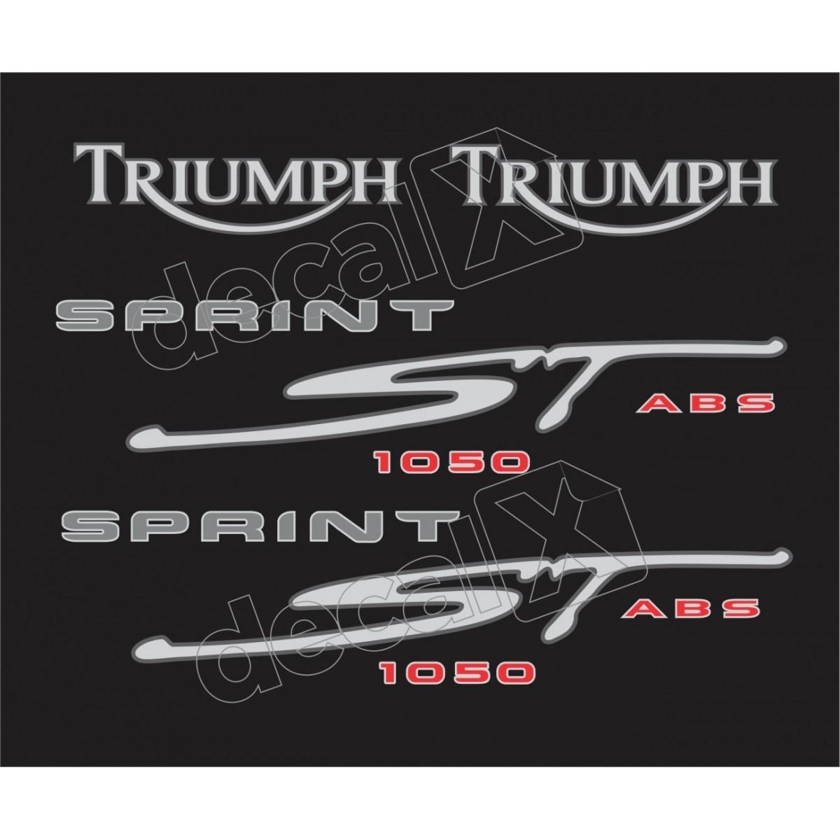 Kit Adesivos Triumph 1050 Sprint St 1050 Preta Decalx