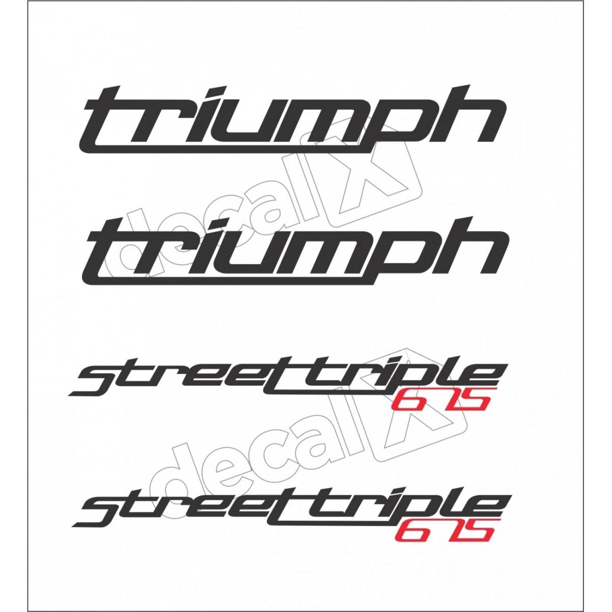 Kit Adesivos Triumph 675 Street Triple Branca Decalx