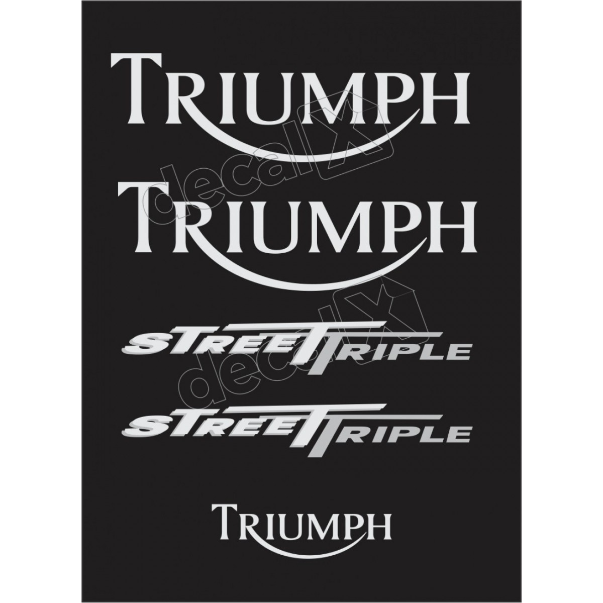 Kit Adesivos Triumph 675 Street Triple Preta Decalx
