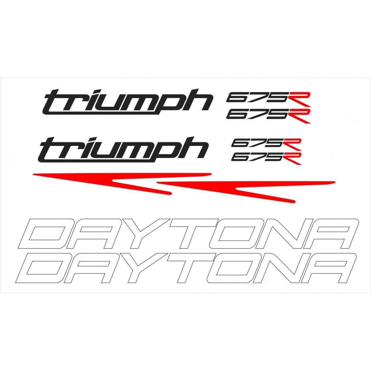 Kit Adesivos Triumph Daytona 675 R 2015 Branca Td002