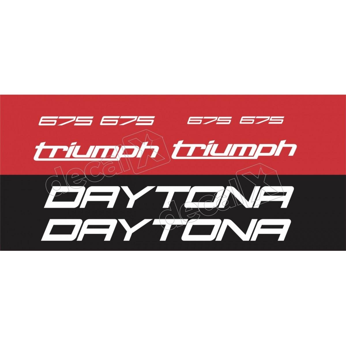 Kit Adesivos Triumph Daytona 675 Vermelha Decalx