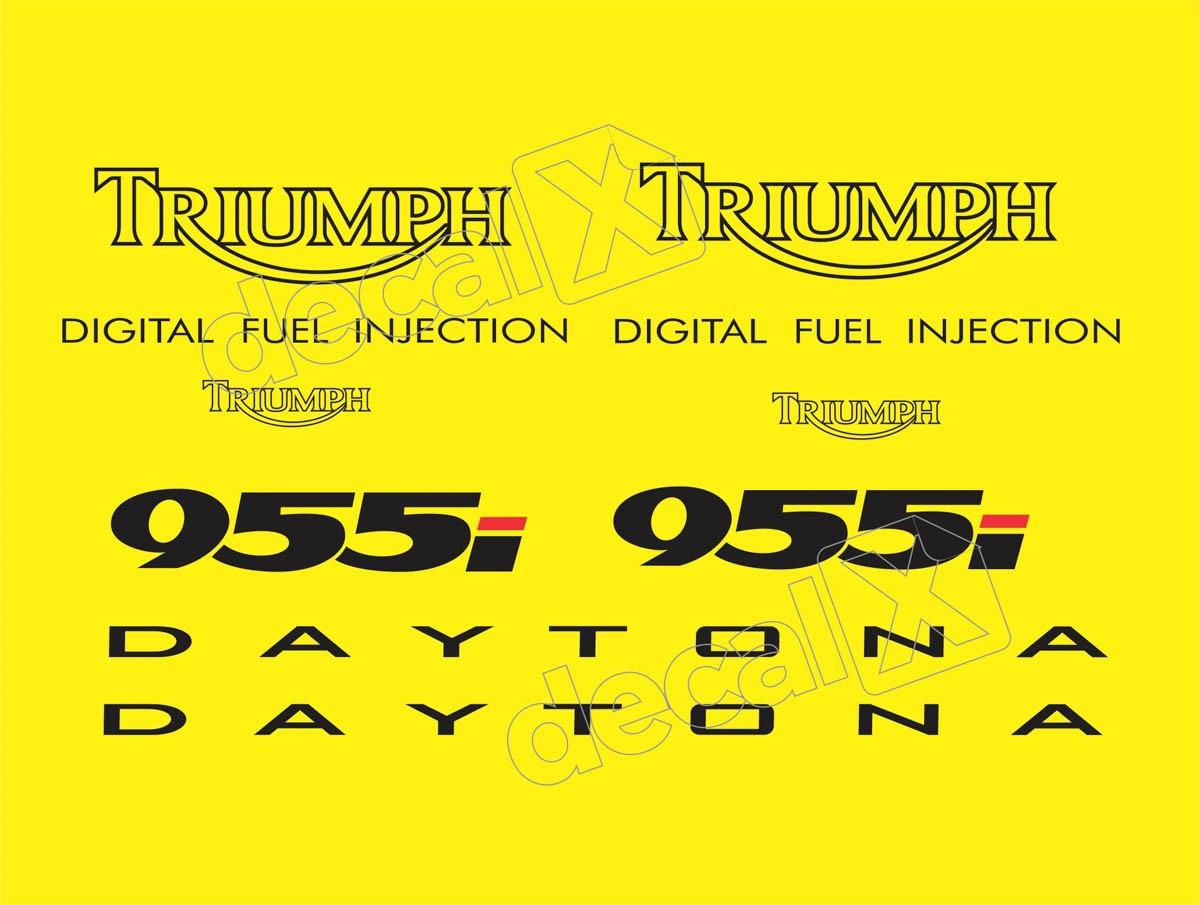 Kit Adesivos Triumph Daytona 955i Amarela D955006