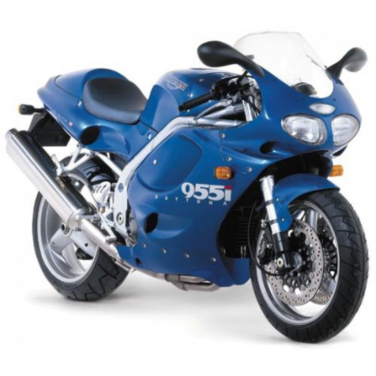 Kit Adesivos Triumph Daytona 955i Azul E Prata Decalx