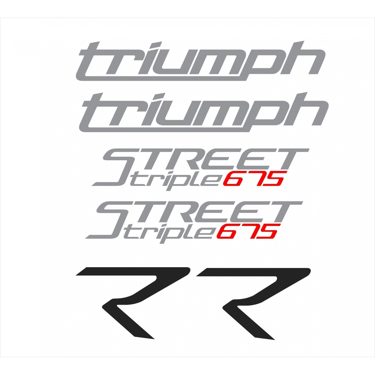 Kit Adesivos Triumph Speed Triple 675 R 2016 Preta St013