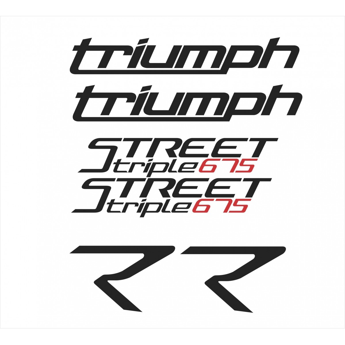 Kit Adesivos Triumph Speed Triple 675 R 2017 Cinza St012
