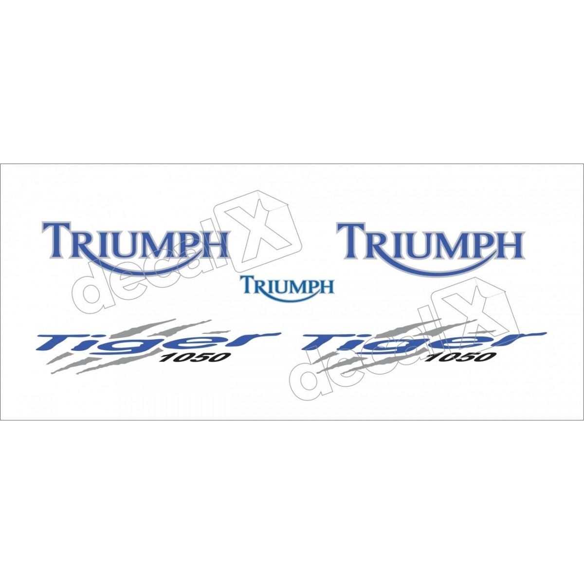 Kit Adesivos Triumph Tiger 1050 Branca Decalx