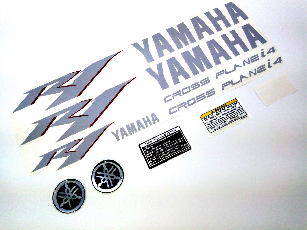 Kit Adesivos Yamaha R1 2010 Preta R110pt - Adesivos para motos