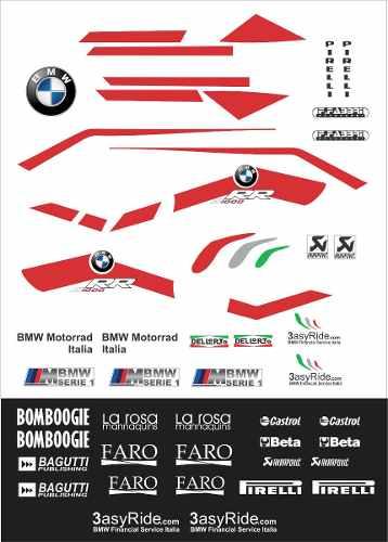 Kit Emblema Adesivo Bmw S1000rr Motorrad Sbk 2012 Decalx