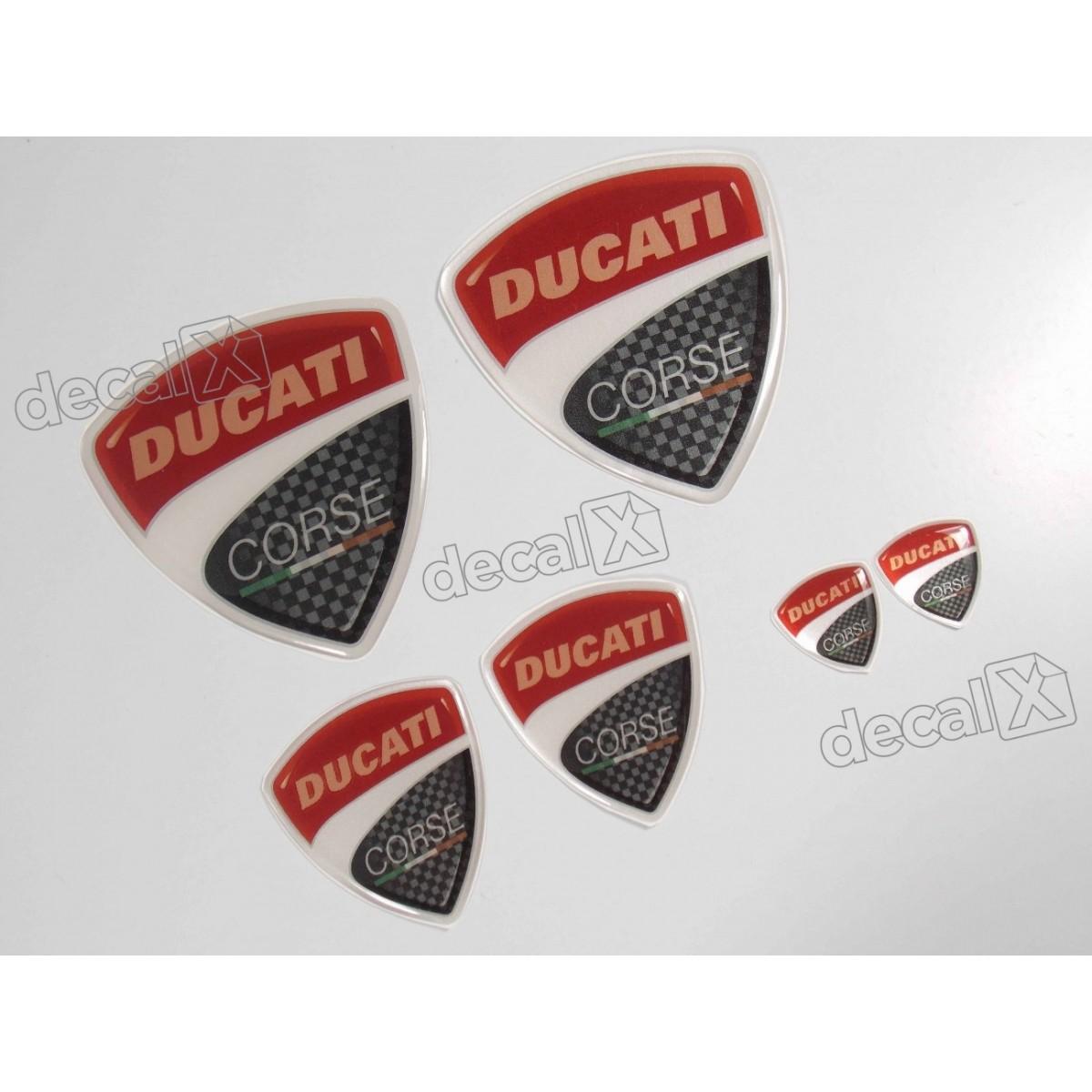 Kit Emblema Adesivo Resinado Ducati Corse Rs1