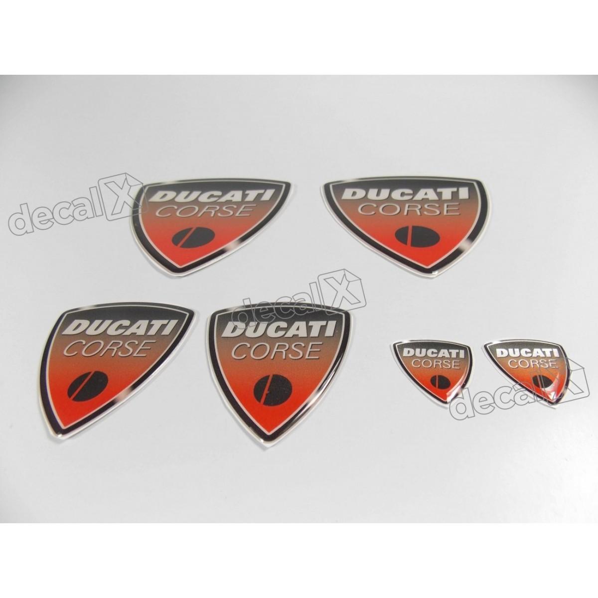 Kit Emblema Adesivo Resinado Ducati Corse Rs2