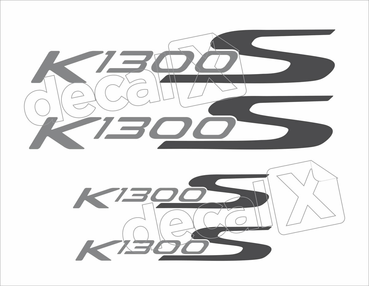 Kit Emblemas Adesivo Bmw K1300s Branca Decalx
