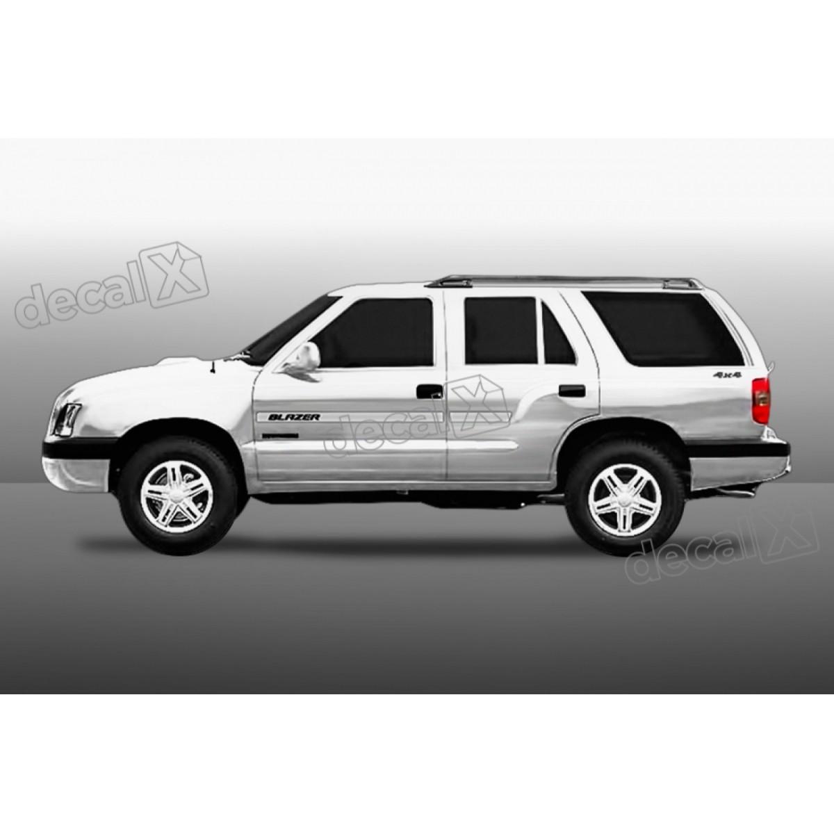 Kit Friso Adesivo Lateral Resinado Chevrolet Blazer Transpar