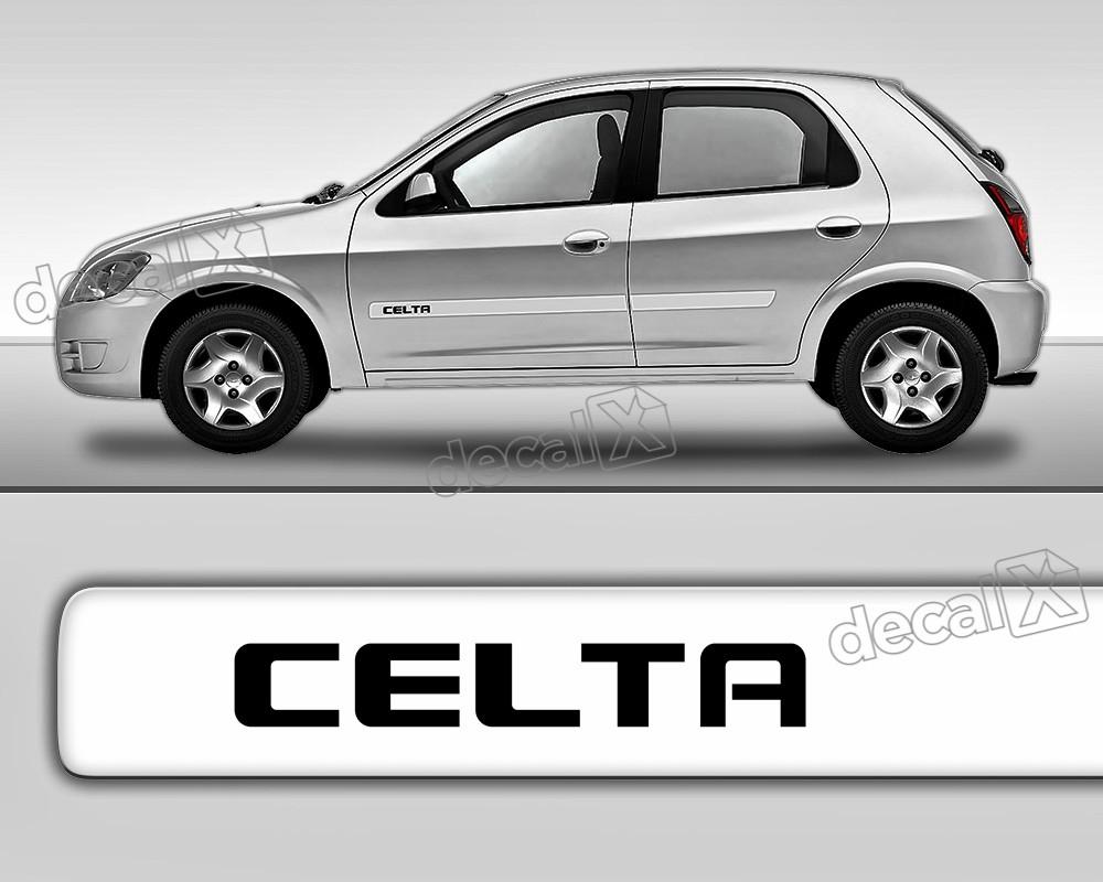 Kit Friso Adesivo Lateral Resinado Chevrolet Celta 2p Fri08