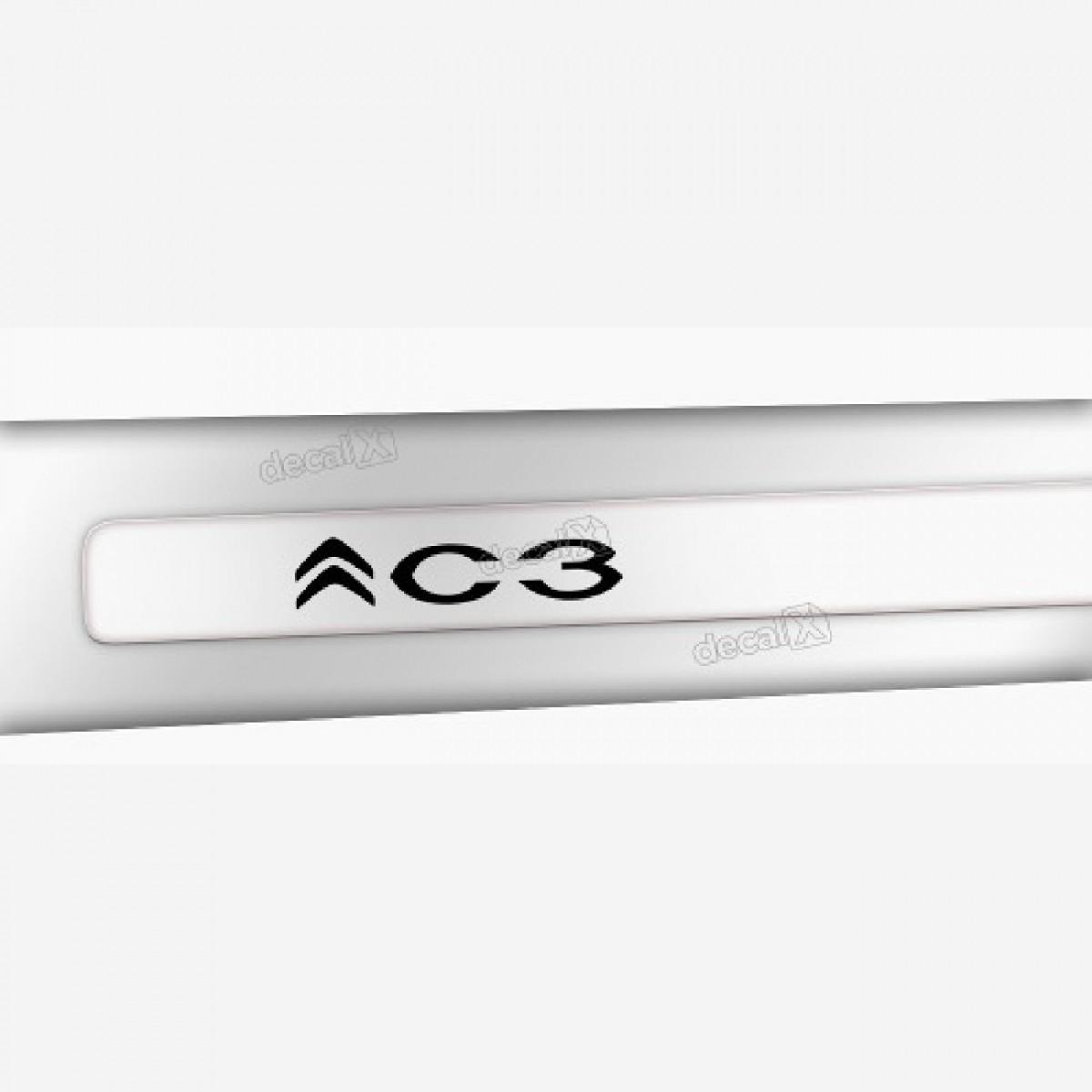Kit Friso Adesivo Lateral Resinado Citroen C3 Fri03